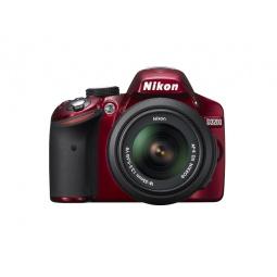 фото Фотокамера цифровая Nikon D3200 Kit 18-55 VR. Цвет: красный