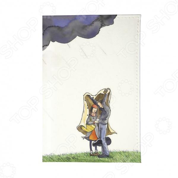 Обложка для автодокументов Mitya Veselkov «Влюбленные и туча»