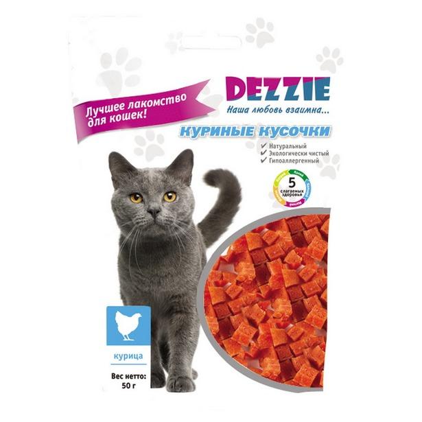фото Лакомство для кошек DEZZIE «Куриные кусочки»