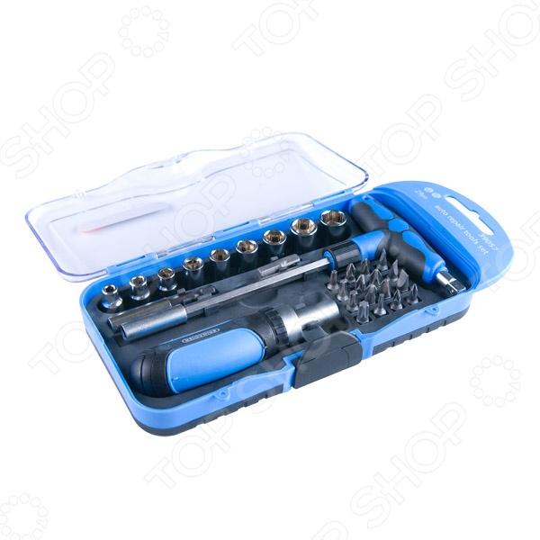Отвертка с набором бит и торцевых головок Brigadier 39057  трещотка с набором бит и торцевых головок gross 49 шт 11600