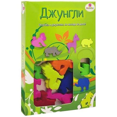 Купить Набор игровой из каучука Rubbabu Джунгли