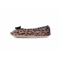 фото Тапочки-балетки Isotoner 97055. Рисунок: леопард. Размер: 35/36