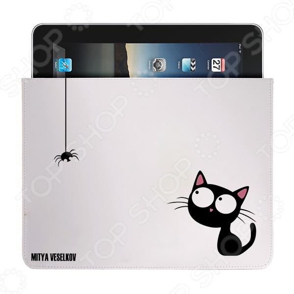 Чехол для iPad Mitya Veselkov «Кошка и паучок» чехлол для ipad iphone mitya veselkov чехол для ipad райский сад ip 08