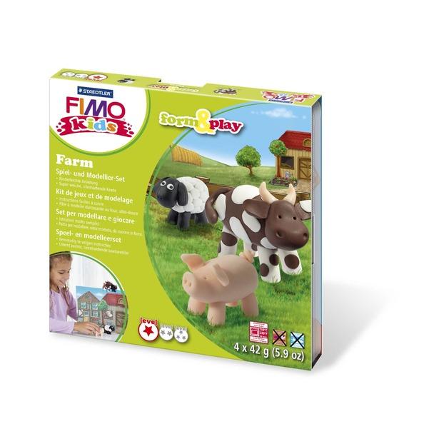 фото Набор для создания украшений детский Fimo Kids «Ферма»