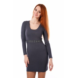 фото Платье Mondigo 9766. Цвет: темно-серый. Размер одежды: 42