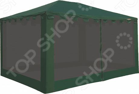 Тент Campack Tent G-3401Тенты. Шатры<br>Тент Campack Tent G-3401 незаменимый элемент во время любого отдыха за городом, похода или долгосрочной стоянки. Тент данной модели может использоваться в качестве столовой, комнаты отдыха, гардероба. Проклеенные швы термоусадочная лента предотвращают попадание холодного воздуха и влаги. Прочный материал со специальной PU-пропиткой надежно защищает отдыхающих от воздействия различных погодных условий, создавая оптимальные условия для комфортного отдыха. Противомоскитная сетка по всему периметру тента предотвращает проникновение насекомых, которые становятся очень активными в летнее время. Тент имеет два удобных входа, закрывающихся на молнию. Скатная форма крыши и зубчатый карниз предотвращают скапливание воды. Специальные оттяжки защищают конструкцию во время сильных порывов ветра. Усиленный каркас представлен прочными стальными дугами 0,8 мм . В сложенном виде тент не занимает много места, а с его установкой легко справится даже неопытный пользователь. Тент вмещает стол на 10-12 человек и небольшую кемпинговую мебель. В комплекте представлены металлические и пластиковые запасные крестовины.<br>