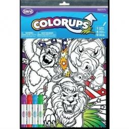 Купить Раскраска с фломастерами Savvi «Дикие животные»