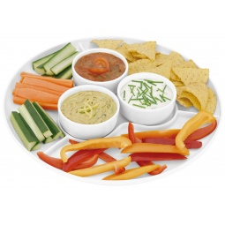 фото Набор: тарелка для закусок и 3 соусницы Horwood Stellar