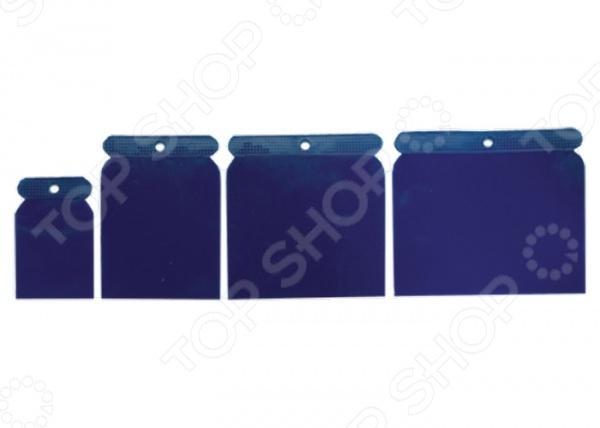 Набор шпателей SPARTA 860045Другой отделочный инструмент<br>Набор шпателей SPARTA 860045 станет прекрасным дополнением к вашему строительно-ремонтному инвентарю. Данный тип инструмента применяется для проведения финишных работ по нанесению шпаклевочного слоя на поверхности, затирки межплиточных швов или мелких трещин. В комплект входят 4 японских шпателя, которые изготовлены из прочного пластика. Лишняя смесь убирается без остатка одним движением. В наборе шпатели шириной 50, 75, 100 и 120 мм.<br>