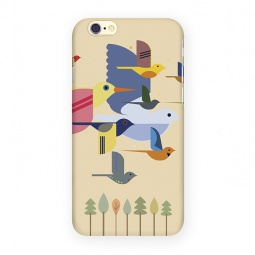 фото Чехол для iPhone 6 Mitya Veselkov «Птицы». Цвет: желтый