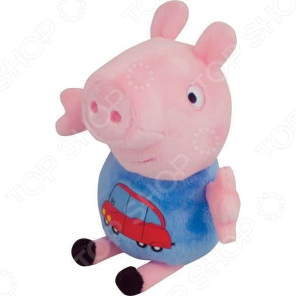 Мягкая игрушка Росмэн «Джордж с машинкой» росмэн росмэн мягкая игрушка peppa pig джордж моряк 25см