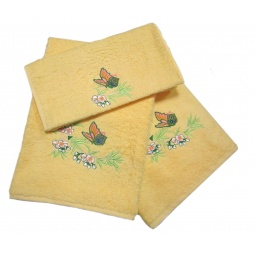 фото Комплект полотенец подарочный TAC Aurora. Цвет: желтый