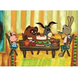 Купить Пазл 30 элементов Castorland Винни Пух «Праздник у Кролика»