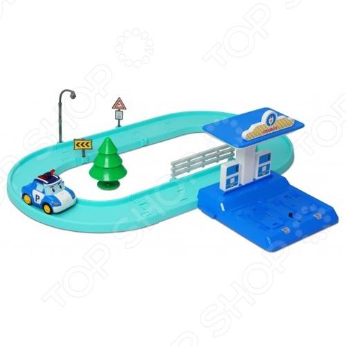 Набор игровой для мальчика Poli «Маленький трек с Умной машинкой Поли»