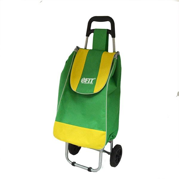 Тележка хозяйственная с сумкой FIT 65485 - удобная прочная тележка, которая пригодится в походе по магазинам. Имеет для устойчивости опорное крепление, с прорезиненными вставками, которые не позволят повредить материал конструкции. В тележке находится вместительная сумка, изготовленная из водонепроницаемого материала. Оснащена 2-мя удобными высокими и, в то же время, компактными колесами, которые значительно облегчат процесс переноски тележки с места на место. Компактно складывается и не занимает много места.