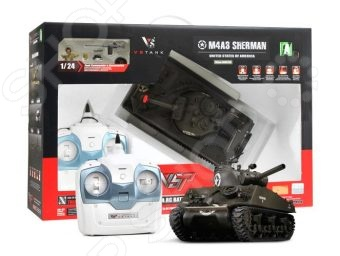Танк на радиоуправлении VSP US M4 Sherman машинка vsp танк 628437