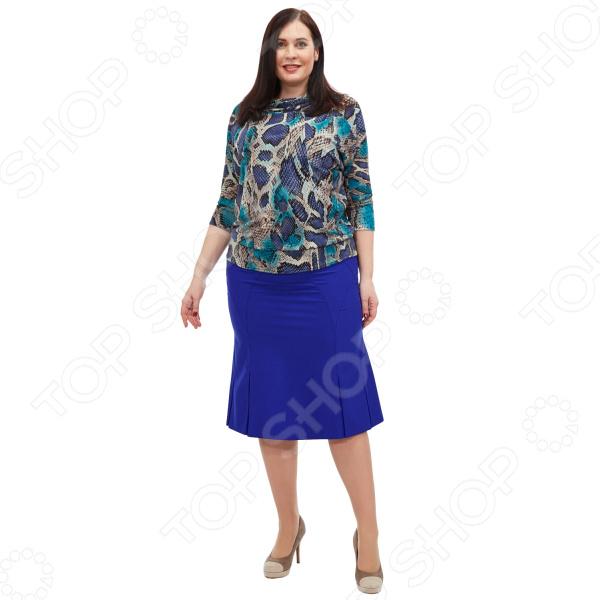 Васильковый цвет юбка фото