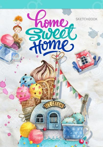 Home sweet home! Ice cream. БлокнотБлокноты<br>Очаровательные скетчбуки для ваших зарисовок! Специальный удобный вертикальный формат позволяет использовать максимум пространства для вашего творчества. А авторские рисунки создают особое солнечное настроение.<br>