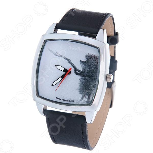 Часы наручные Mitya Veselkov «Ежик с веточкой» CH