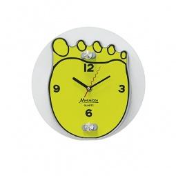 фото Часы настенные Marmiton «Ступня». Цвет: желтый