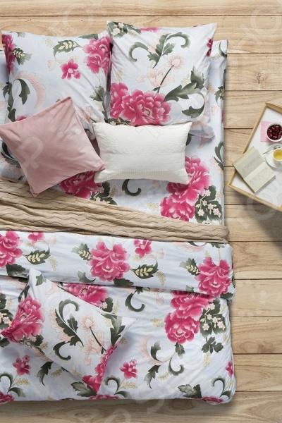 Комплект постельного белья Сова и Жаворонок «Пион Скарлет» древовидный пион купить в волгограде