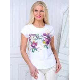 фото Футболка женская BeGood SS15-UER-LTS-881. Цвет: белый. Размер одежды: 42