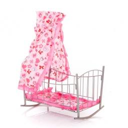 Купить Кроватка-качалка для кукол Melobo с балдахином 1698594. В ассортименте