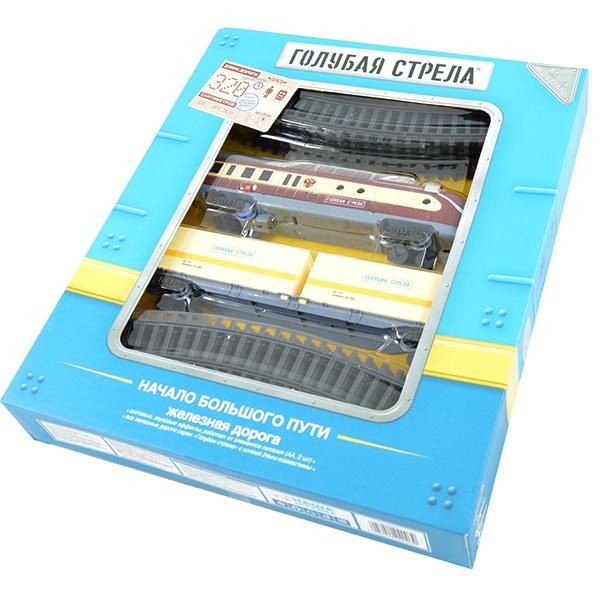 Набор железной дороги игрушечный Голубая стрела 87147 набор железной дороги на радиоуправлении голубая стрела классик 87186