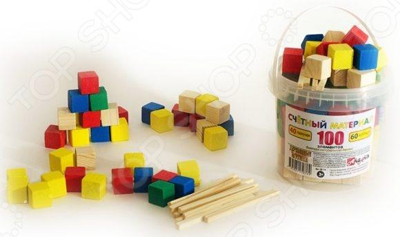 Набор развивающий Русские деревянные игрушки «Палочки и кубики» Д013b игрушки для детей