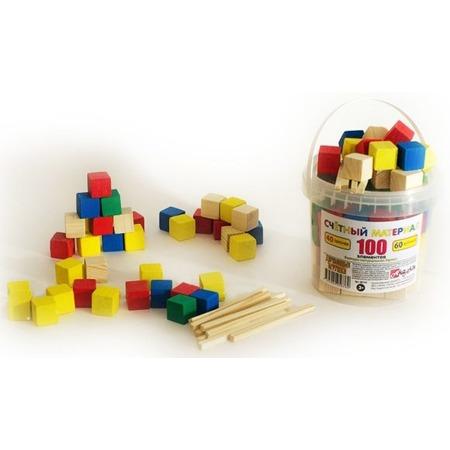 Купить Набор развивающий Русские деревянные игрушки «Палочки и кубики» Д013b