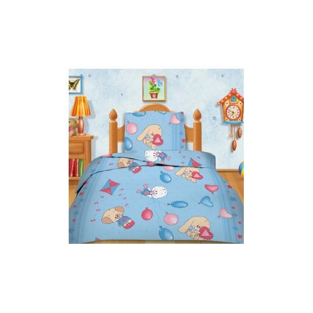 фото Детский комплект постельного белья Кошки-Мышки Веселые друзья . Цвет: голубой