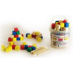 фото Набор развивающий Русские деревянные игрушки «Палочки и кубики» Д013b