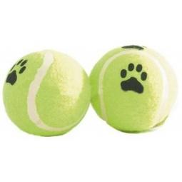 Купить Игрушка для собак Beeztees «Мячик теннисный с принтом. Лапы»