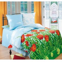 фото Комплект постельного белья «Маковое поле», 1,5-спальный