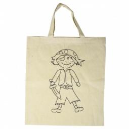 Купить Сумка хлопковая с контуром рисунка Rayher «Пират»