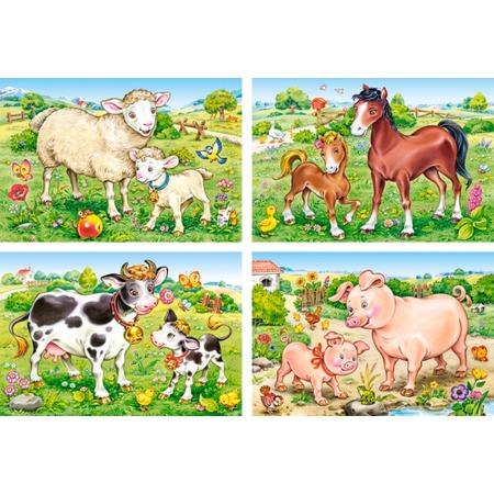 Купить Набор пазлов 4 в 1 Castorland «Домашние животные»