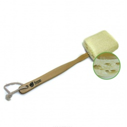 фото Мочалка из люфы Банные штучки на деревянной ручке. Размер: 46 см
