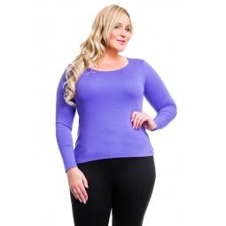 фото Кофта Mondigo XL 436. Цвет: ярко-сиреневый. Размер одежды: 52