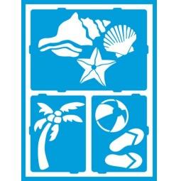 фото Трафарет декоративный для стекла и других поверхностей DecoArt Americana Отдых у моря