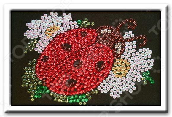 Мозаика из пайеток Волшебная мастерская «Божья коровка» 48363 мозаика божья коровка и пчелка 2 набора 97018