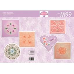 Купить Набор схем для парчмента Pergamano M99 Яркие цветы