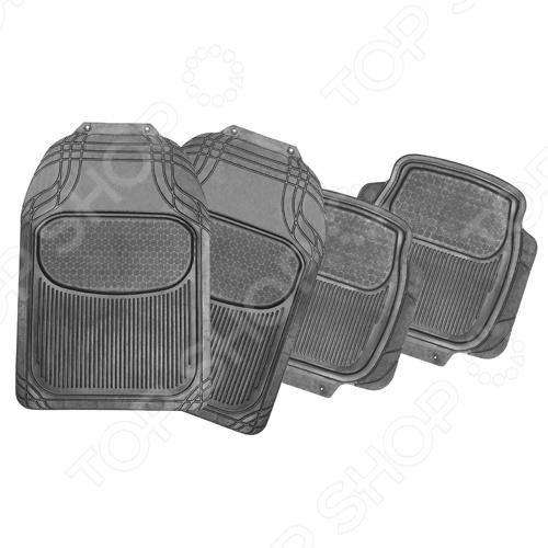 Набор ковриков Автостоп AB-1005Коврики в салон<br>Набор ковриков Автостоп AB-1005 прекрасно защитят салон вашего автомобиля от случайно вылитых жидкостей и загрязнений в любое время года. Они изготовлены из мягкого, легкого и эластичного материала и не имеют запаха. Кроме того, качественные оригинальные коврики обеспечат комфорт ногам водителя и пассажиров. В набор входят 4 резиновых коврика размером 74х50 см и 46х45 см.<br>