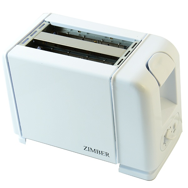 Тостер Zimber 10064Тостеры<br>Тостер Zimber 10064 станет отличным дополнением к набору вашей мелкой бытовой техники для кухни и даст возможность каждый день радовать домочадцев необычайно вкусными и хрустящими тостами. Корпус прибора выполнен в белой цветовой гамме из высококачественного ударопрочного металла. Тостер оснащен функциями подогрева, системой ручного и автоматического отключения, регулятором степени поджаривания, выдвижным поддоном для крошек, отделением для шнура и широкими слотами для ломтиков хлеба.<br>