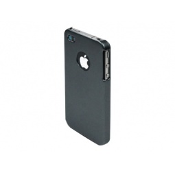 фото Чехол Muvit Grey Rubber Metal Back Cover для iPhone 4S