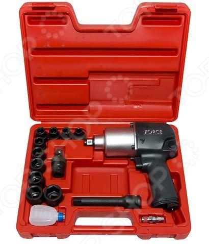 Набор инструмента: пневмогайковерт с ударными головками Force F-4142-4 пневмогайковерт abac с 4 головками 750157