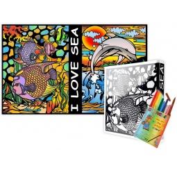 Купить Папка-раскраска Color Velvet «Дельфины»