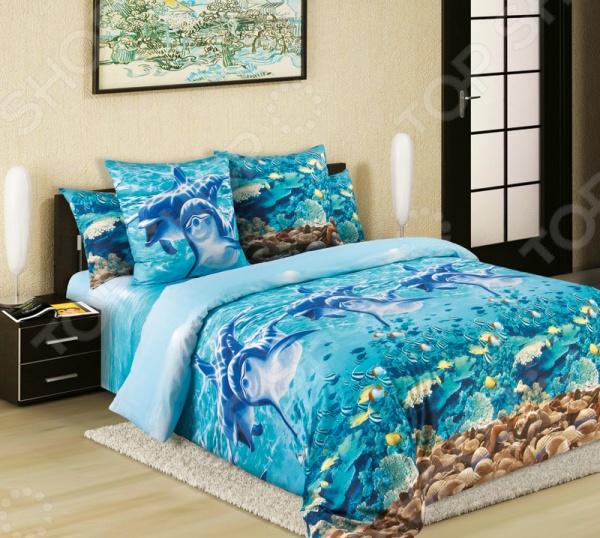 Комплект постельного белья Королевское Искушение «Дельфины» комплект постельного белья королевское искушение калипсо