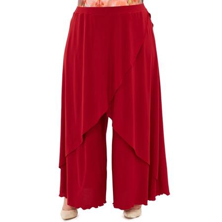 Купить Юбка-брюки Pretty Woman «Крылья Пегаса». Цвет: бордовый