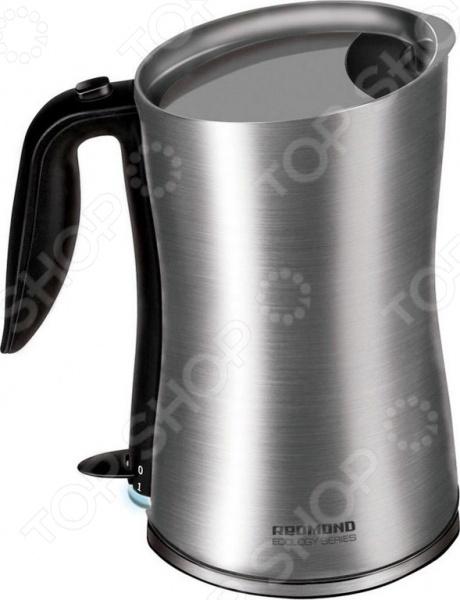 Чайник Redmond RK-M134Чайники электрические<br>Чайник Redmond RK-M134 это отличный чайник, который подойдет для ежедневного использования. Мощность 1800 Вт, максимальный объем 1,2 литра. Корпус выполнен из нержавеющей стали, скрытый нагревательный элемент, есть индикатор включения. Есть функция отключения при снятии чайника с подставки и закипании.<br>