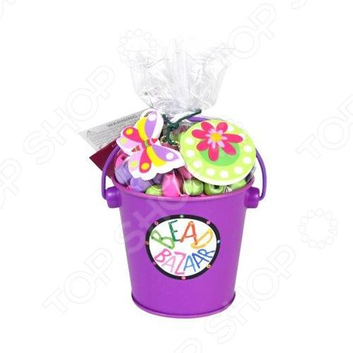 Набор для создания украшений Bead Bazaar «Ведерко» 1698429 игровой набор bead bazaar набор дл творчества 1466
